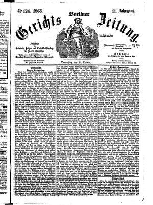Berliner Gerichts-Zeitung vom 22.10.1863