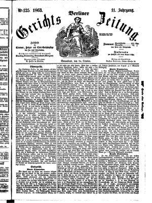 Berliner Gerichts-Zeitung vom 24.10.1863