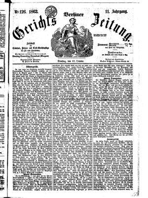 Berliner Gerichts-Zeitung vom 27.10.1863