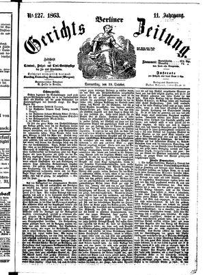 Berliner Gerichts-Zeitung vom 29.10.1863