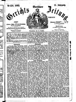 Berliner Gerichts-Zeitung vom 31.10.1863