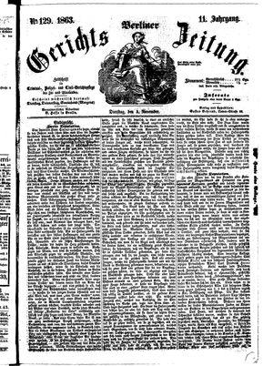 Berliner Gerichts-Zeitung on Nov 3, 1863