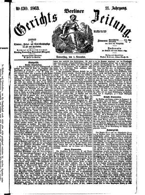 Berliner Gerichts-Zeitung vom 05.11.1863