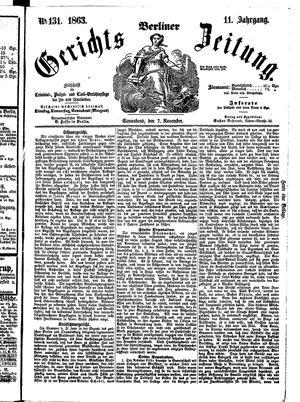 Berliner Gerichts-Zeitung vom 07.11.1863