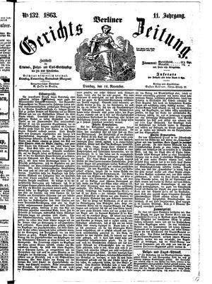 Berliner Gerichts-Zeitung vom 10.11.1863