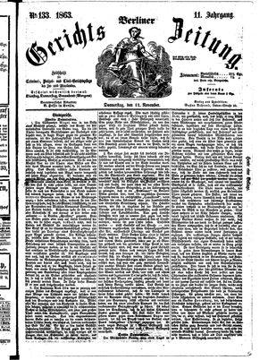 Berliner Gerichts-Zeitung vom 12.11.1863
