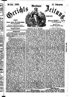 Berliner Gerichts-Zeitung vom 14.11.1863