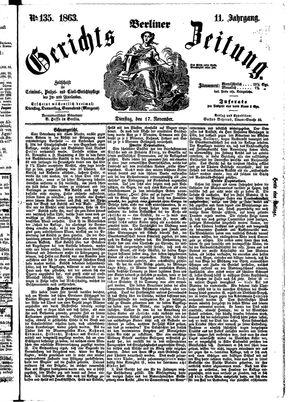 Berliner Gerichts-Zeitung vom 17.11.1863