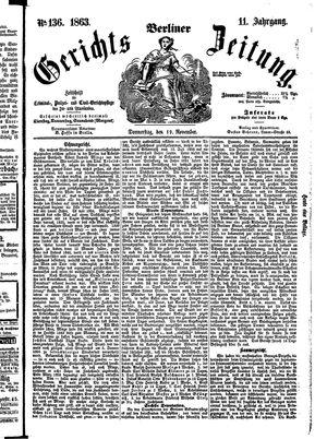Berliner Gerichts-Zeitung vom 19.11.1863