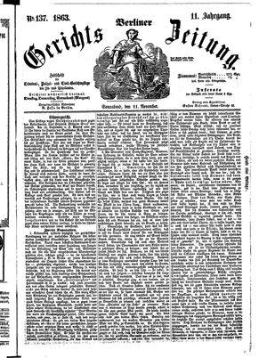 Berliner Gerichts-Zeitung vom 21.11.1863