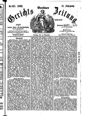 Berliner Gerichts-Zeitung vom 24.11.1863