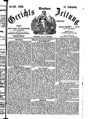 Berliner Gerichts-Zeitung vom 26.11.1863