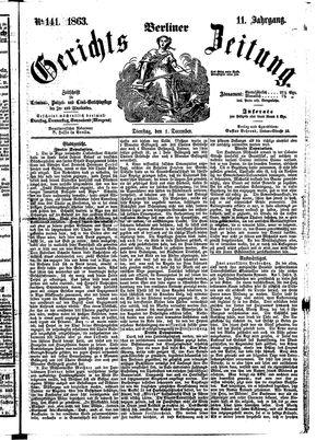 Berliner Gerichts-Zeitung vom 01.12.1863