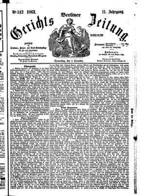 Berliner Gerichts-Zeitung vom 03.12.1863