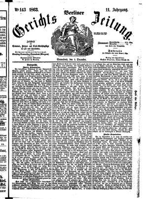Berliner Gerichts-Zeitung vom 05.12.1863