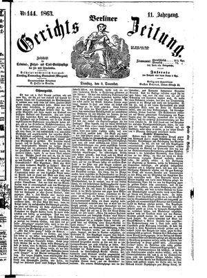 Berliner Gerichts-Zeitung on Dec 8, 1863