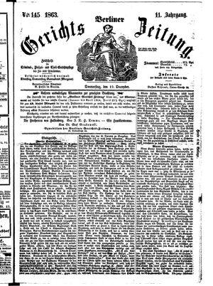 Berliner Gerichts-Zeitung on Dec 10, 1863