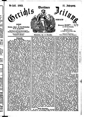 Berliner Gerichts-Zeitung vom 12.12.1863