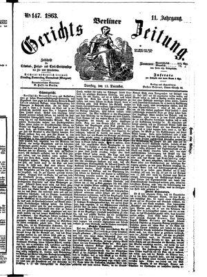 Berliner Gerichts-Zeitung vom 15.12.1863