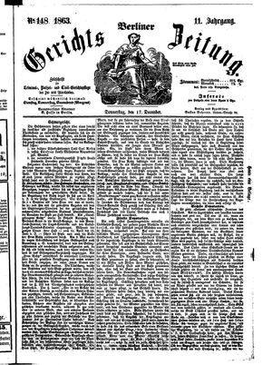 Berliner Gerichts-Zeitung vom 17.12.1863