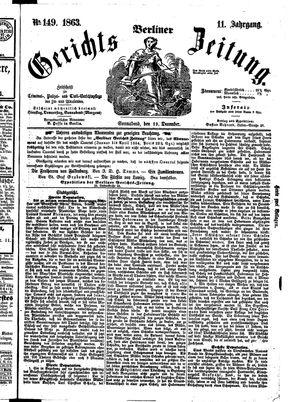 Berliner Gerichts-Zeitung on Dec 19, 1863