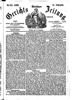 Berliner Gerichts-Zeitung vom 29.12.1863
