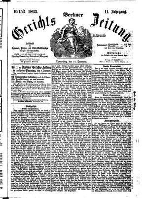 Berliner Gerichts-Zeitung vom 31.12.1863