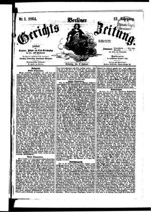 Berliner Gerichts-Zeitung on Jan 3, 1864