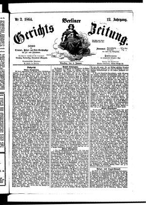 Berliner Gerichts-Zeitung vom 05.01.1864