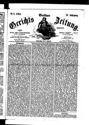 Berliner Gerichts-Zeitung vom 07.01.1864