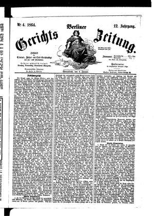 Berliner Gerichts-Zeitung vom 09.01.1864