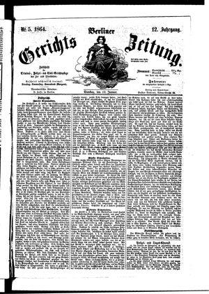 Berliner Gerichts-Zeitung vom 12.01.1864