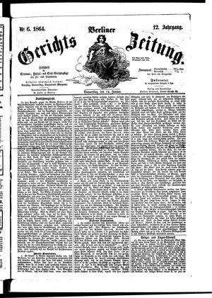 Berliner Gerichts-Zeitung vom 14.01.1864