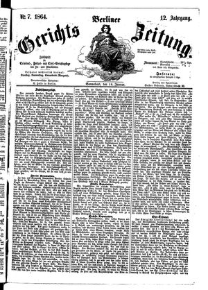 Berliner Gerichts-Zeitung vom 16.01.1864