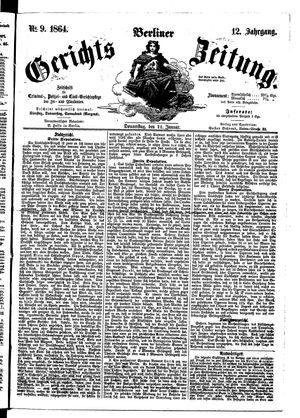 Berliner Gerichts-Zeitung on Jan 21, 1864