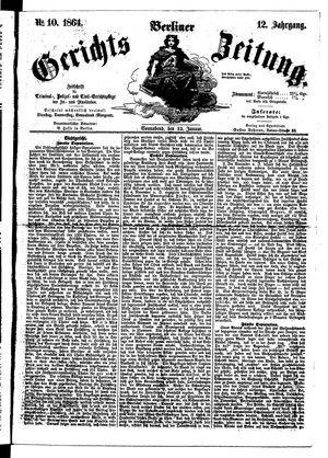 Berliner Gerichts-Zeitung on Jan 23, 1864