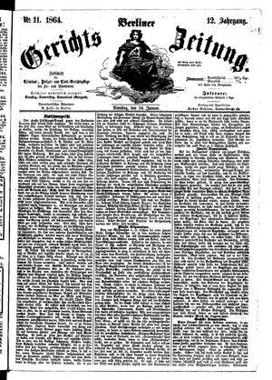 Berliner Gerichts-Zeitung vom 26.01.1864