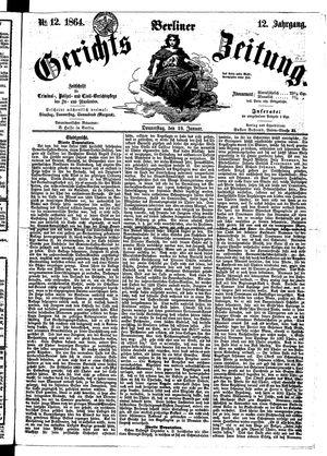 Berliner Gerichts-Zeitung vom 28.01.1864