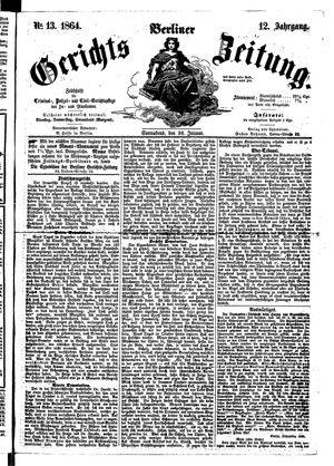 Berliner Gerichts-Zeitung vom 30.01.1864