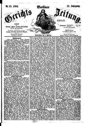Berliner Gerichts-Zeitung on Feb 4, 1864