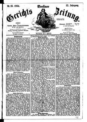 Berliner Gerichts-Zeitung vom 06.02.1864