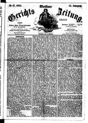 Berliner Gerichts-Zeitung vom 09.02.1864