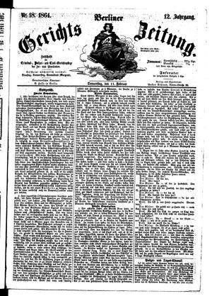 Berliner Gerichts-Zeitung vom 11.02.1864