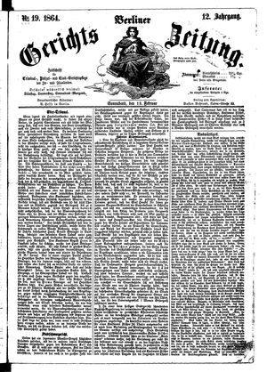 Berliner Gerichts-Zeitung vom 13.02.1864