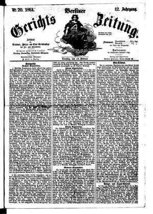 Berliner Gerichts-Zeitung vom 16.02.1864