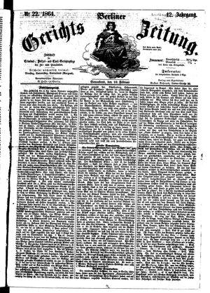 Berliner Gerichts-Zeitung vom 20.02.1864