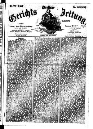 Berliner Gerichts-Zeitung vom 23.02.1864