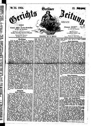Berliner Gerichts-Zeitung vom 25.02.1864