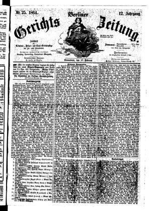 Berliner Gerichts-Zeitung vom 27.02.1864