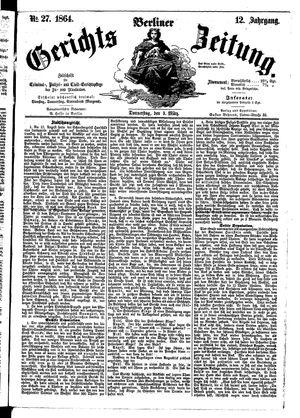 Berliner Gerichts-Zeitung vom 03.03.1864
